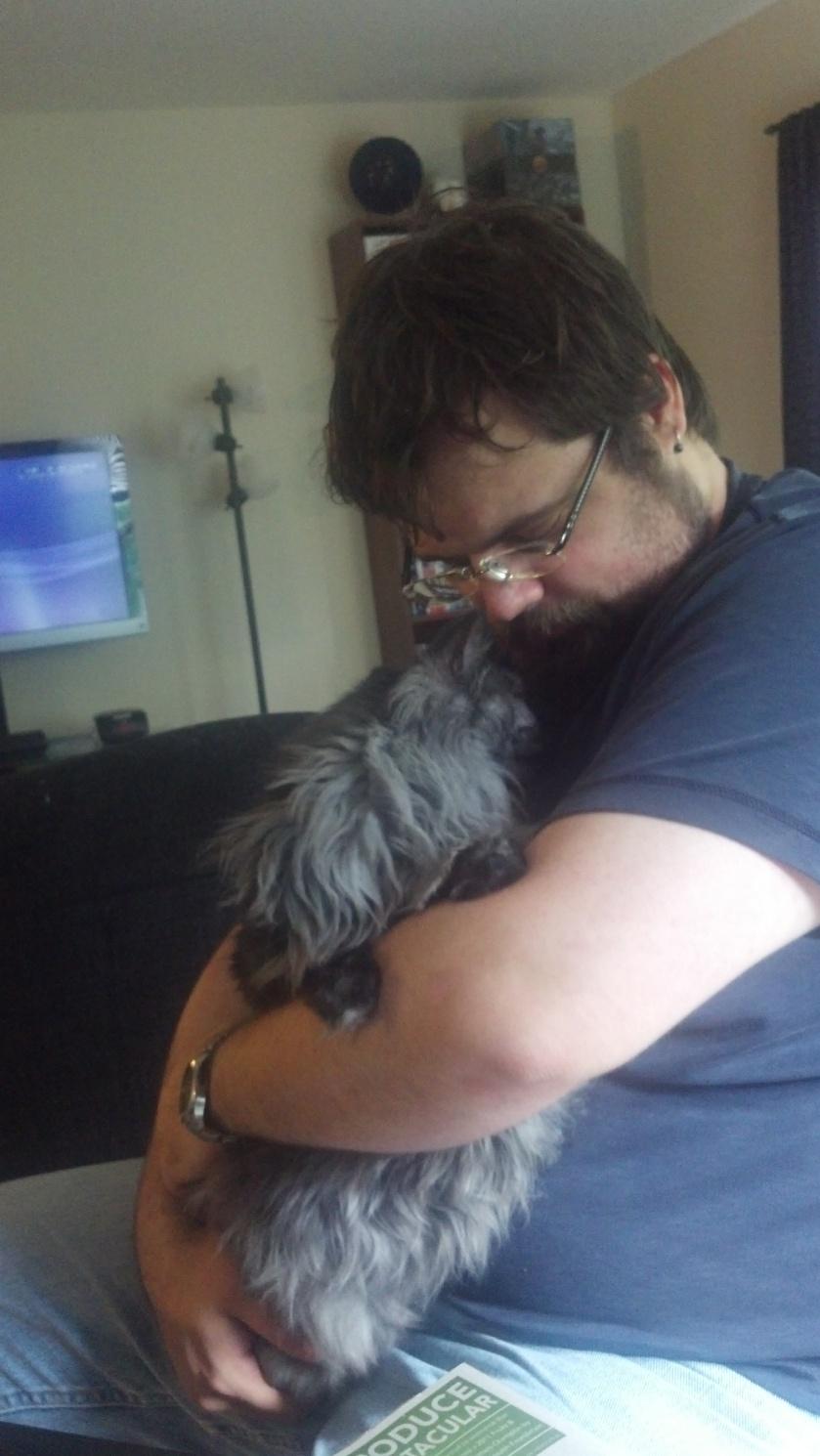 Jeff and Taz Hug