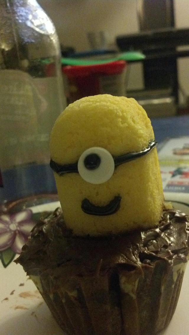 Chocolate Minion Cupcake