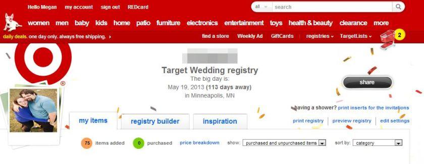 Target Registry 1-25-13