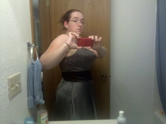 from 2010, trying to choose a dress to wear to a wedding.