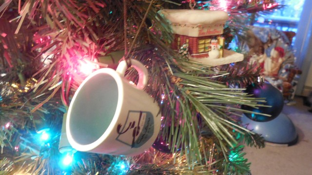 Caribou and Tim Horton's Coffee Ornaments