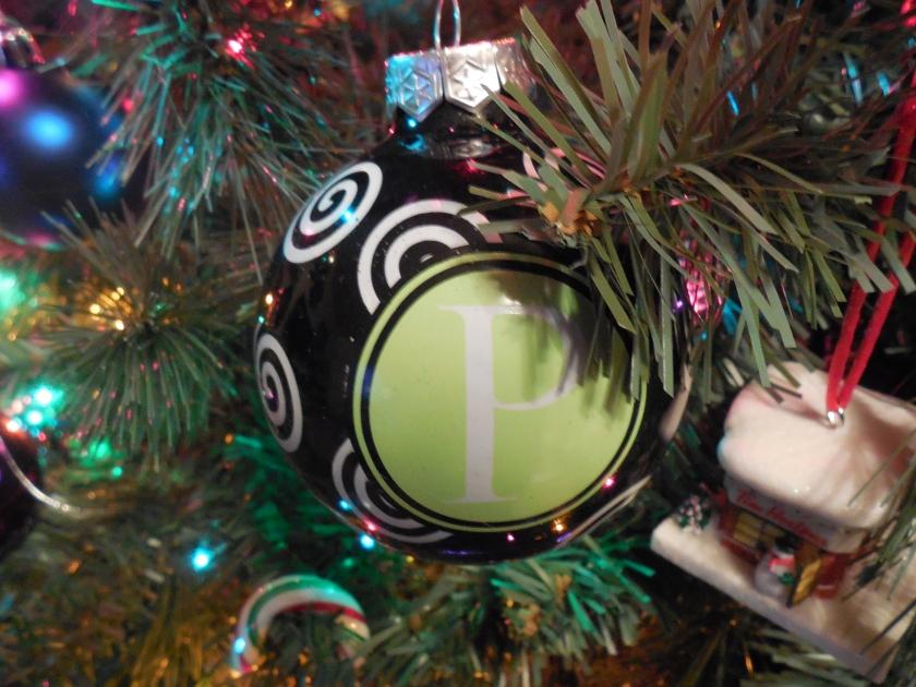 "Initial ""P"" Ornament"